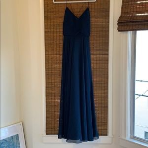 Jenny Yoo Inesse Dress - Navy - Size: 4
